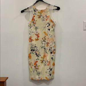 Club Monaco floral print sleeveless sheath dress